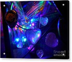 Holiday Hearts Acrylic Print