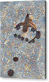 Holiday Hearts Snowman Acrylic Print by Boy Sees Hearts