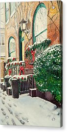 Holiday In The City Acrylic Print by John Schuller