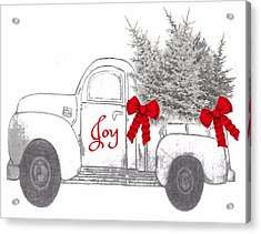 Acrylic Print featuring the digital art Holiday Joy Chesilhurst Farm by Kim Kent