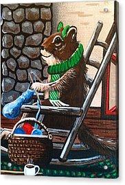 Holiday Knitting Acrylic Print by Jennifer Lake