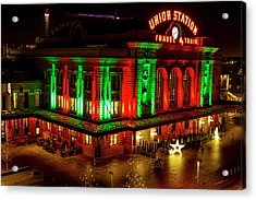 Holiday Lights At Union Station Denver Acrylic Print