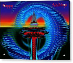 Holiday Needle 2 Acrylic Print by Tim Allen
