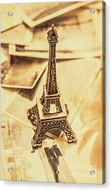Holiday Nostalgia In Vintage France Acrylic Print