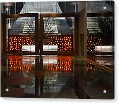 Acrylic Print featuring the photograph Holiday Reflections by Ron Dubin