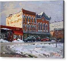 Holiday Shopping In Tonawanda Acrylic Print by Ylli Haruni