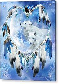 Holiday Wolves Acrylic Print by Carol Cavalaris