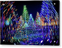 Holidays Aglow Acrylic Print by Rick Berk
