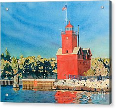 Holland Lighthouse - Big Red Acrylic Print