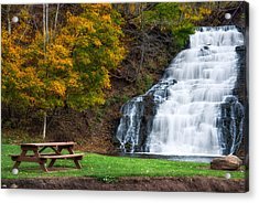 Acrylic Print featuring the photograph Holley Canal Falls by Mark Papke