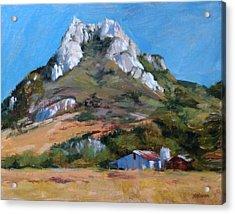 Hollister Peak Acrylic Print by Peter Salwen