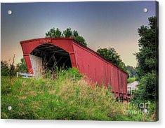 Holliwell Covered Bridge Acrylic Print by Thomas Danilovich