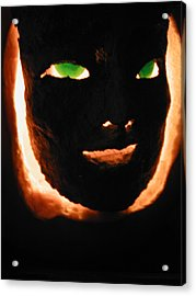 Holloween Mask Acrylic Print by Mark Stevenson