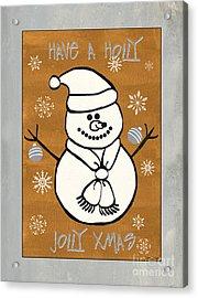 Holly Holly Xmas Acrylic Print by Debbie DeWitt