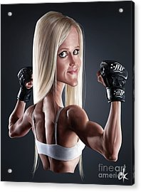 Holly Holm Acrylic Print by Andre Koekemoer