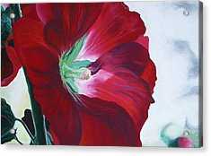 Hollyhock Acrylic Print by Jane Autry