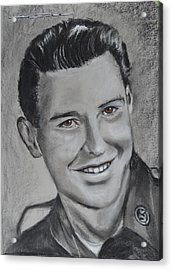 Acrylic Print featuring the drawing Duane 'red' Loban by Eric Dee