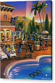 Hollywood Ants Cocktail Party Acrylic Print by Robin Moline