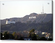 Hollywood Hills And Griffith Observatory Acrylic Print