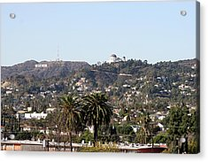 Hollywood Hills From Sunset Blvd Acrylic Print