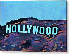 Hollywood Pop Art Sign Acrylic Print