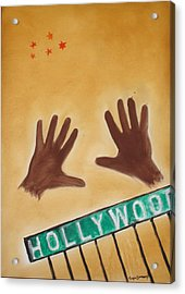 Hollywood Acrylic Print by Roger Cummiskey