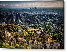 Behind The Sign Acrylic Print by April Reppucci
