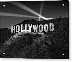 Hollywood Sign At Night Acrylic Print