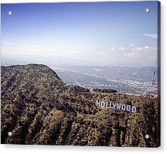 Hollywood Sign, Built Ca. 1923 By Mack Acrylic Print by Everett