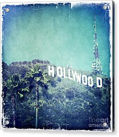 Hollywood Sign Acrylic Print by Nina Prommer