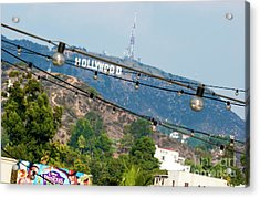 Acrylic Print featuring the photograph Hollywood Sign On The Hill 1 by Micah May