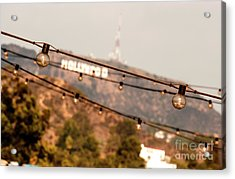 Acrylic Print featuring the photograph Hollywood Sign On The Hill 2 by Micah May
