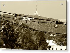 Acrylic Print featuring the photograph Hollywood Sign On The Hill 4 by Micah May