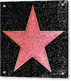 Hollywood Walk Of Fame Star Acrylic Print