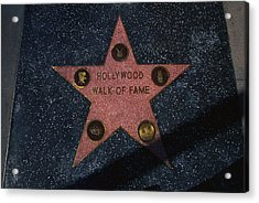 Hollywood Walk Of Fame Star Los Angeles Acrylic Print