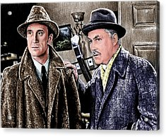 Holmes And Watson Colour 2 Acrylic Print by Andrew Read