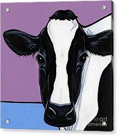 Holstein Acrylic Print by Leanne Wilkes