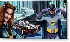 Holy Catastrophe - Julie Newmar And Adam West - 1966 Acrylic Print by Jo King