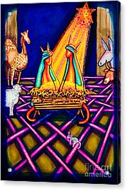 Holy Christmas Kats Acrylic Print by Laurie Tietjen