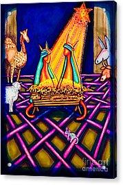 Holy Christmas Kats Acrylic Print