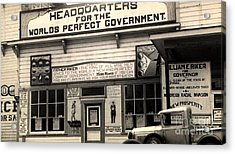 Holy City World Government Santa Clara County California 1938 Acrylic Print