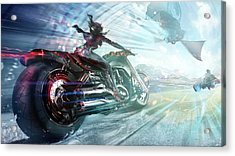 Holy Crap That Is Fast. Acrylic Print