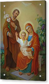 Holy Family With The Vine Tree Acrylic Print by Svitozar Nenyuk