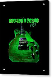 Acrylic Print featuring the photograph Holy Grail 1959 Retro Relic Guitar by Guitar Wacky