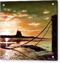Holy Island Acrylic Print by James Richardson