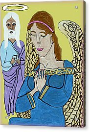 Holy Jesus Praise The Lord Acrylic Print by Betty  Roberts