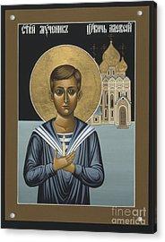 Holy New Martyr Tsarevich Alexei 010 Acrylic Print