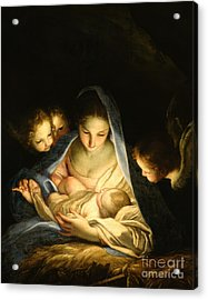 Holy Night Acrylic Print by Carlo Maratta