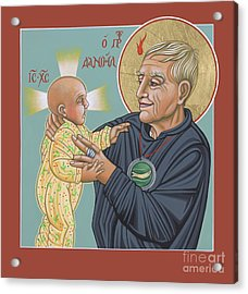 Acrylic Print featuring the painting Holy Prophet Daniel Berrigan 291 by William Hart McNichols