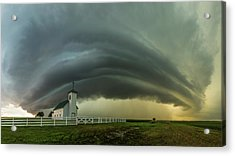Acrylic Print featuring the photograph Holy Supercell  by Aaron J Groen